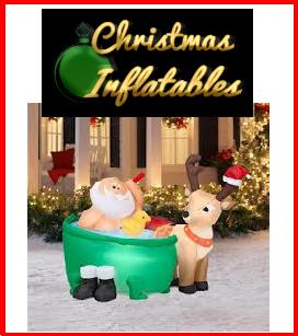 retro xmas inflatables pic RETRO CHRISTMAS INFLATABLES