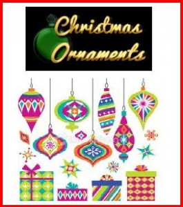 retro xmas ornament pic 265x300 Retro Christmas Shopping Village