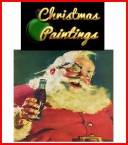 retro xmas paintings 265x300 Retro Christmas Shopping Village