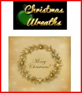 retro xmas wreath pic 265x300 Retro Christmas Shopping Village
