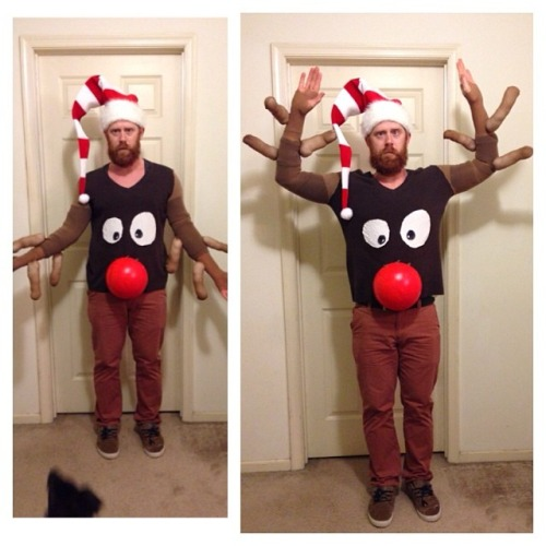DIY reindeer ugly xmas sweater
