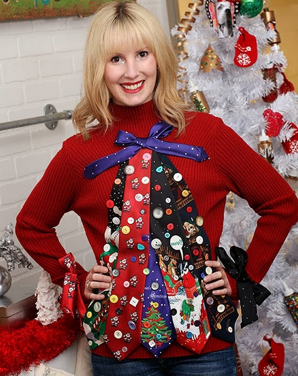 Ugly christmas sweater ideas for your next party retro living ugly tie sweater diy redbutton1 solutioingenieria Gallery
