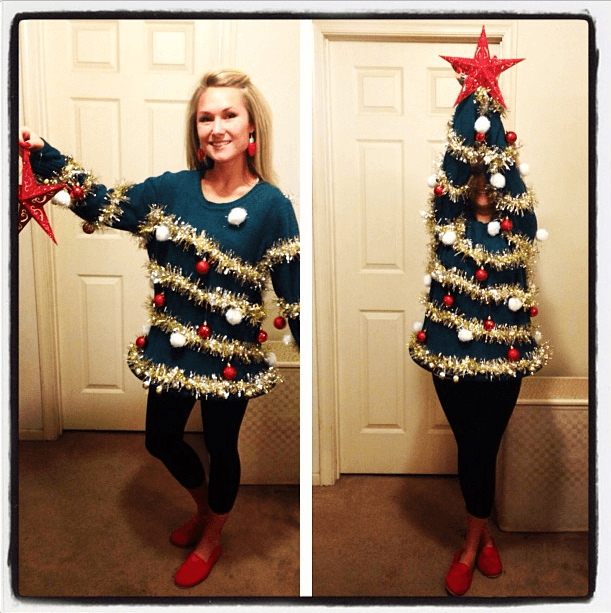 ugly diy christmas sweaters full body DIY